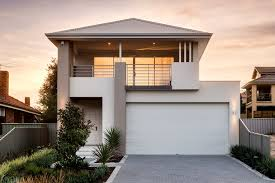 narrow lot houses homes two storey narrow lot small perth home building plans 39404