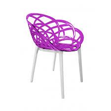 chaise violette chaise flora pied blanc light n design