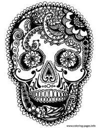 print skull guns flowers coloring pages sugar skull