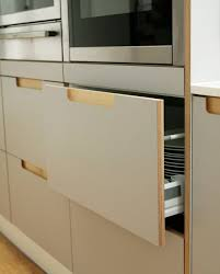 birch veneer kitchen cabinet doors really pleased with these inset handles designed in collaboration