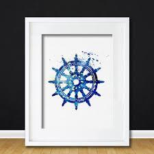 Anchor Print Inspirational Print Quot - watercolor art ships wheel gift modern 8x10 wall art decor