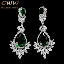 chandelier earring cwwzircons wedding souvenir jewelry drop cz