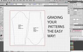 pattern and grading software grade your digitized pattern in illustrator method 2 youtube