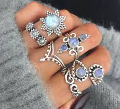 silver pretty rings images Jewels silver hippie boho ring pretty opal sun sunflower jpg