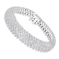 diamond bracelet ladies images Unique 18k gold ladies diamond bracelet 14 6ct g vs by luxurman jpg