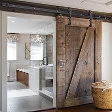 reasejoy 6 6ft carbon steel sliding barn door closet hardware