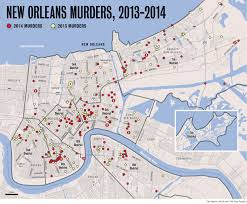 Map Of New Orleans Usa by New Orleans Murders Down In 2014 But Violent Crime On The Rise