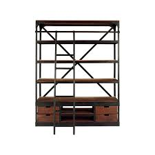 Industrial Bookcase With Ladder by Colton 63
