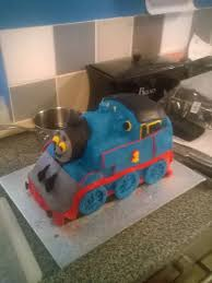 thomas train cake tutorial for 3d thomas train birthday cake step