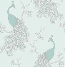 new fine decor empress peacock shabby chic wallpaper duck egg blue