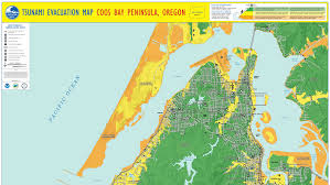 map of oregon evacuation tsunami evacuation maps for douglas coos and curry counties