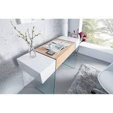 Schreibtisch Hochglanz Grau Sekretär Konsolentisch Schreibtisch Weiss Oak 120x40 Schublade