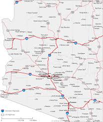 map of az map of arizona cities arizona road map