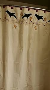 Amazon Com Shower Curtains - simplify primitive country home fabric shower curtain lk http