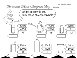 capacity worksheet free worksheets library download and print