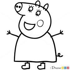 draw mummy pig 1 peppa pig