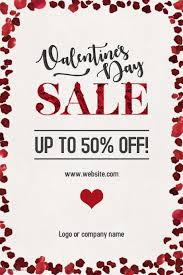 valentines sales customizable design templates for valentines sale flyer postermywall