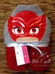 pj masks hooded towel pj masks owlette towel bedtime owl hooded