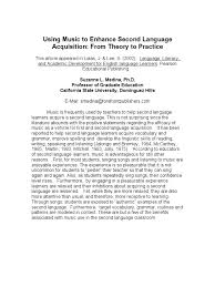using music to enhance second language acquisition from theory to