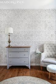 wall stencils for bedrooms how to stencil an accent wall maison de pax