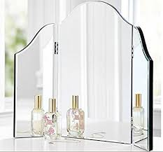 Tri Fold Mirrors Bathroom Trifold Vanity Makeup Mirror Bathroom Bedroom Dresser
