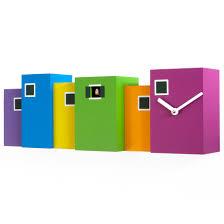 Modern Cuckoo Clock Burano Cuckoo Clock Colourful Designer Wall Clock By Progetti