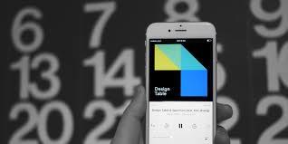 podcast design table on behance
