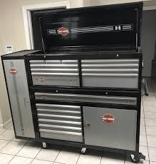 large harley tool box and side cabinet harley davidson forums