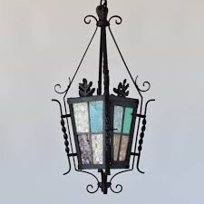 antique stained glass hanging light fixtures all about lamps ideas