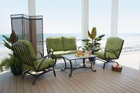 Agio Patio Chairs by Agio International Anna 4pc Oversize Motion Seating Set Featuring