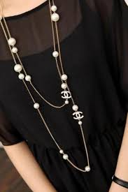 costume jewelry pearl necklace images Chanel pearl necklace from jewlry pinterest jpg