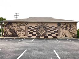 grand lodge of ancient free masons of south carolina news masonic mural painted by costal carolina students on the outside wall of grand strand lodge no 392
