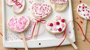 heart shaped cookies heart shaped cookie pops recipe pillsbury