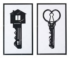 the key in the shape of a house and a heart u2014 stock photo