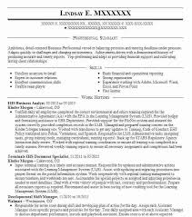Business Analyst Resume Objective Sample Business Analyst Resumes Senior Business Analyst Resume