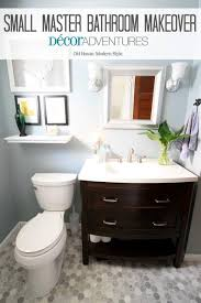 Small Bathroom Updates On A Budget Small Master Bathroom Makeover Decor Adventures