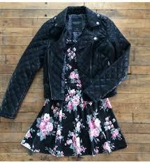 jacket leather leather jacket black black jacket dress