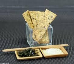 la cuisine de clea biscuits au sésame et crackers aux algues cuisinons les