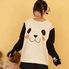 panda sweater panda print sweaters students cool hoodies sleeves