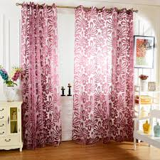 Purple Curtains For Living Room High Quality Multi Colors Semi Blackout Sheer Curtains Panel