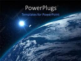 templates powerpoint earth powerpoint template moon shining on blue earth globe with other