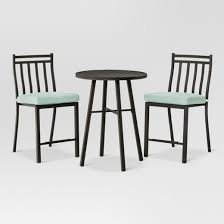 fairmont 3 piece steel balcony height patio bistro set threshold