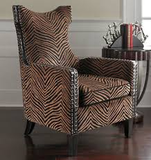Leopard Print Accent Chair High Back Rich Animal Print Accent Chair Rustic Contemporary