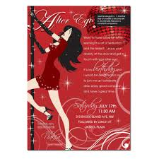 elegant red club birthday invitation for women pictures