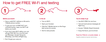 t mobile free inflight wifi t mobile customers will receive free inflight gogo wi fi internet