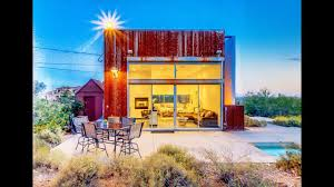 tiny modern home in desert arizona small house design youtube