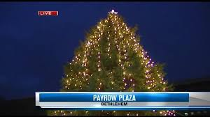 bethlehem lights its tree wfmz