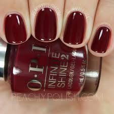 opi malaga wine infinite shine iconic collection peachy polish