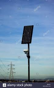 solar panel street lights solar panel for street lighting with electricity power pylons in