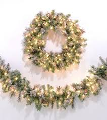frosted virginia pine artificial wreaths garland